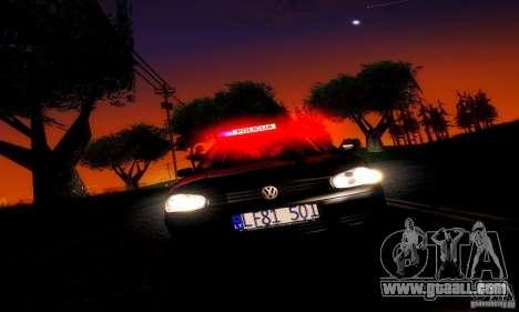 Volkswagen Golf Police for GTA San Andreas