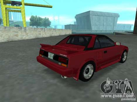 Toyota MR2 for GTA San Andreas left view