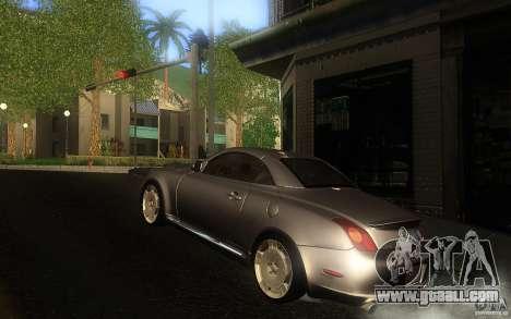 Lexus SC430 for GTA San Andreas inner view