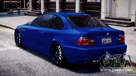 BMW M3 E46 Tuning 2001 for GTA 4 back left view