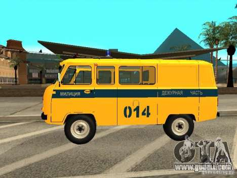 UAZ 2206 Police for GTA San Andreas left view