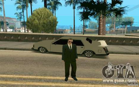 Black MIB for GTA San Andreas