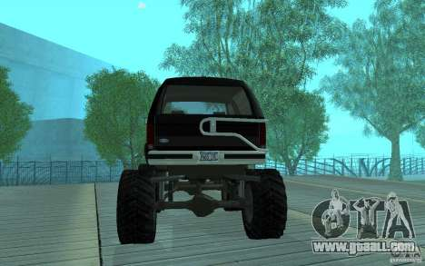 Ford Bronco Monster Truck 1985 for GTA San Andreas right view