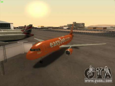 Airbus A320-214 EasyJet 200th Plane for GTA San Andreas back left view