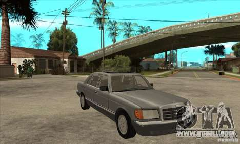Mercedes Benz W126 560 v1.1 for GTA San Andreas back view