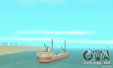 Steam Freighter for GTA San Andreas left view