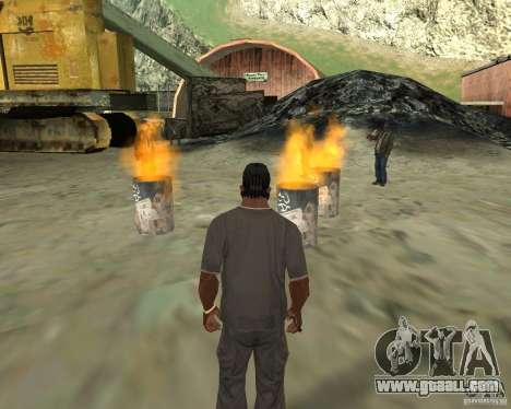Barney homeless for GTA San Andreas fifth screenshot