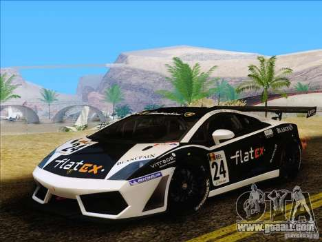 Lamborghini Gallardo LP560-4 GT3 V2.0 for GTA San Andreas back left view