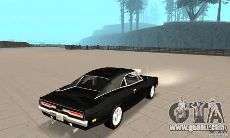 Dodge Charger RT 1970 The Fast & The Furious for GTA San Andreas back left view
