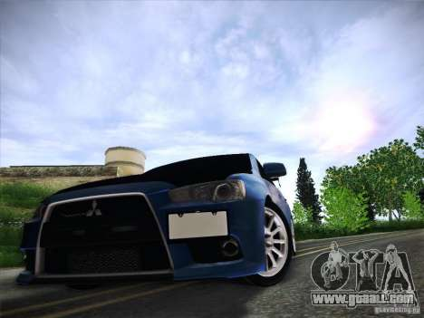 Mitsubishi Lancer Evolution Drift Edition for GTA San Andreas bottom view