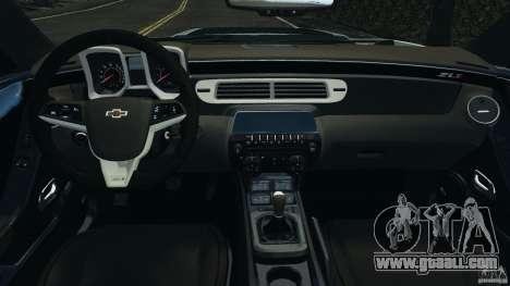 Chevrolet Camaro ZL1 2012 v1.2 for GTA 4 back view