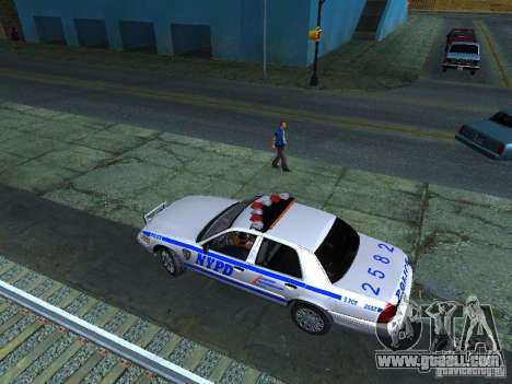 Ford Crown Victoria 2009 New York Police for GTA San Andreas inner view