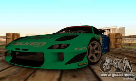 Mazda RX7 Falken edition for GTA San Andreas back view
