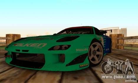 Mazda RX7 Falken edition for GTA San Andreas back view