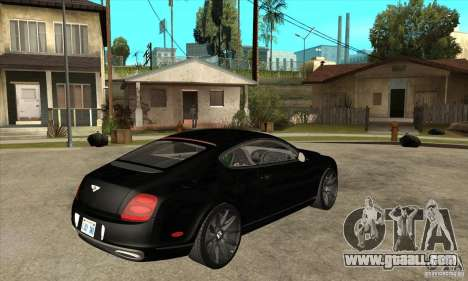 Bentley Continental Supersports for GTA San Andreas right view