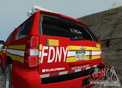 Chevrolet Suburban EMS Supervisor 862 for GTA San Andreas upper view