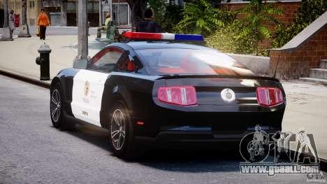 Ford Mustang V6 2010 Police v1.0 for GTA 4 back left view