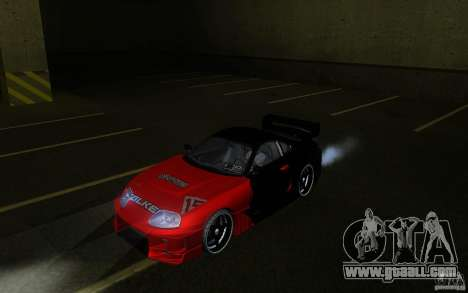 Toyota Supra Chargespeed for GTA San Andreas back view