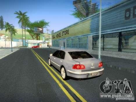 Volkswagen Phaeton W12 for GTA San Andreas inner view