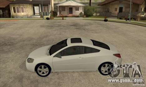 Pontiac G6 Stock Version for GTA San Andreas left view