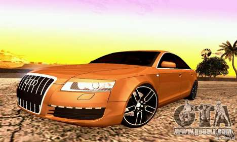 Audi A6 Blackstar for GTA San Andreas left view