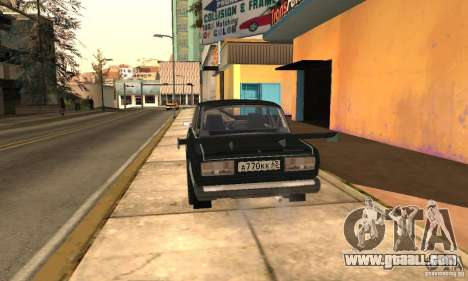 LADA 2107 Turbo for GTA San Andreas left view
