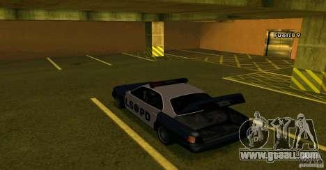 Merit Police Version 2 for GTA San Andreas back view