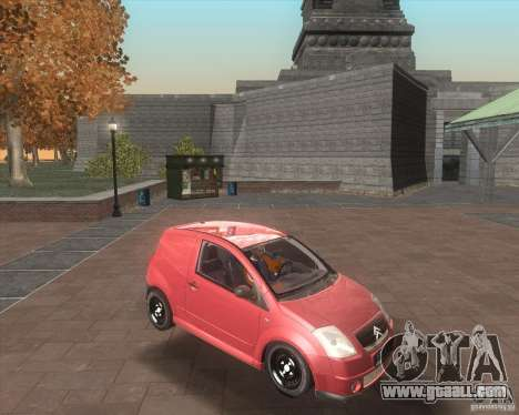 Citroen C2 workers car for GTA San Andreas inner view