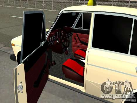 VAZ 2106 Taxi for GTA San Andreas back view