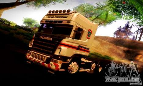 Scania R620 Emercom Of Russia for GTA San Andreas interior
