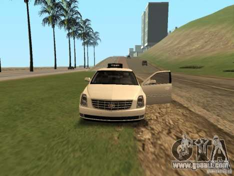 Cadillac DTS 2010 for GTA San Andreas inner view