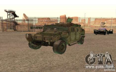 Hummer Spec Ops The Line for GTA San Andreas inner view