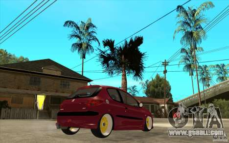 Peugeot 206 GTI for GTA San Andreas right view