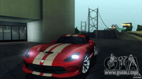 Dodge SRT Viper GTS 2012 V1.0 for GTA San Andreas engine