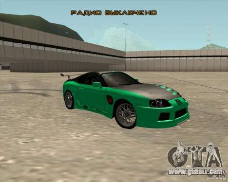 Toyota Supra ZIP style for GTA San Andreas side view