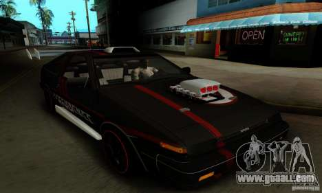 Toyota Corolla GT-S for GTA San Andreas upper view