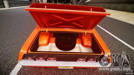 Mercury Cyclone Spoiler 1970 for GTA 4 bottom view