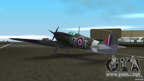 Spitfire Mk IX for GTA Vice City back view