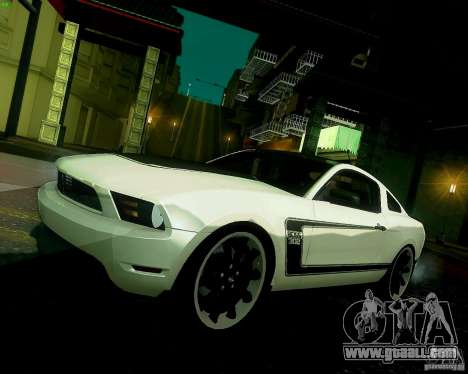 Ford Mustang Boss 302 2011 for GTA San Andreas inner view