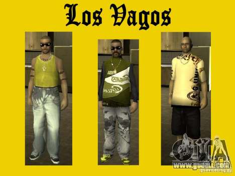 Skins of Vagos gang for GTA San Andreas