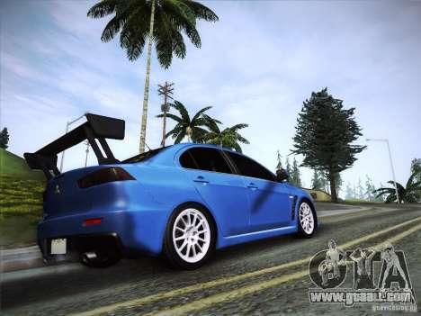 Mitsubishi Lancer Evolution Drift Edition for GTA San Andreas left view