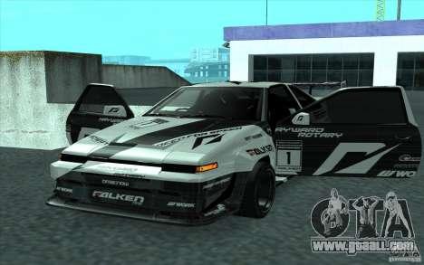 Toyota Corolla AE86 Shift 2 for GTA San Andreas back view