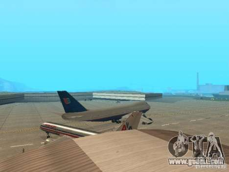 Boeing 747-100 United Airlines for GTA San Andreas right view