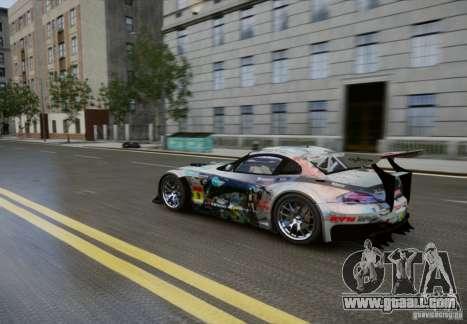 BMW Z4 GT3 2010 V.2.0 for GTA 4 inner view