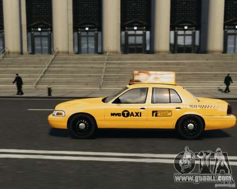 Ford Crown Victoria NYC Taxi 2012 for GTA 4 left view