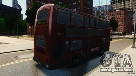 London City Bus for GTA 4 back left view