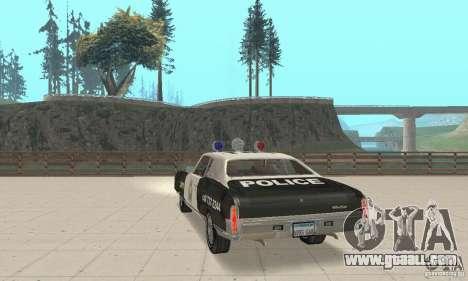 Chevrolet Monte Carlo 1970 Police for GTA San Andreas left view