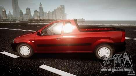 Dacia Logan Pick-up ELIA tuned for GTA 4 left view