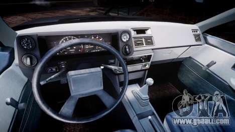 Toyota Sprinter Trueno 1986 for GTA 4 back view