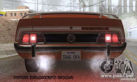 Ford Mustang Mach1 1973 for GTA San Andreas engine